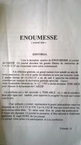 La page 3 du bulletin énoumessé de la communauté djikié en France