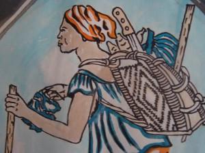 Une femme Dida avec sa Hotte au dos - Une icône © : Dago Marie-Claire