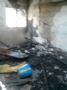 Incendie de la maison de notre soeur Christine Lablanche.