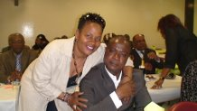 Tébi Ablé Joachim avec notre journaliste reporter Akra Djina