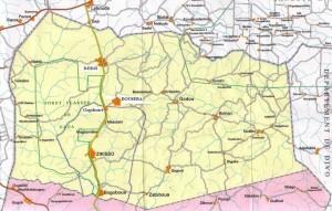 Carte territoriale de Zikisso