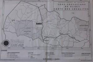 La Carte de la sous-préfecture de Djidji