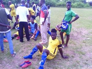 Coupe Pokou Laurent. Gbiyri FC tombe en quart de finale face à Douseba FC. Photo : Légou Frédéric