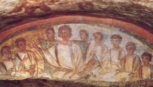 Catacomb_Christ+the-apostles