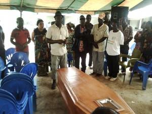 L'oraison funèbre du Chef d'Olirédou Yahou Dadis Mathias Photo : Légou Frédéric