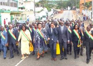 Attentats de Paris-Marche de soutien des députés ivoiriens au Plateau d'Abidjan