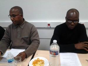 de g. à d. Le président Armel Thomas, Sahié J.C, organisateur en chef - ADSP
