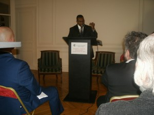 Conférence de Presse du Dr Donat MUPAPA KIBADI à Paris. /Photo prise le 19 Janvier 2015 /HGOAH/Jean Patrice DJAGO