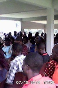 L'assistance de la réunion électorale tenue par Bakayoko Kassoum, sous-préfet.