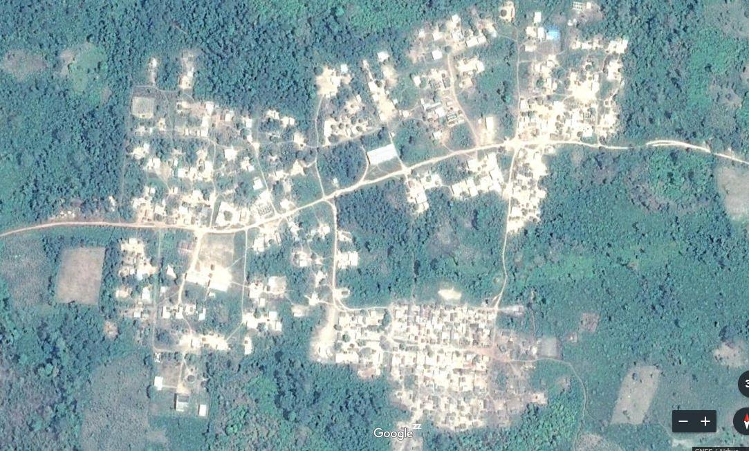 Carte de Douseba sous-préfecture de Djidji